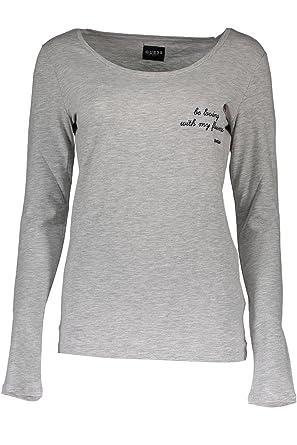 26101be29a8e Guess Jeans O74I02-J1304 T-Shirt Long Sleeves Women Grey LHGM XL: Amazon.co. uk: Clothing