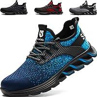 SUADEEX Zapatos de Seguridad Hombre, Zapatos de Trabajo Hombres Ligeros, Puntera de Acero Zapatos de Seguridad, Anti…