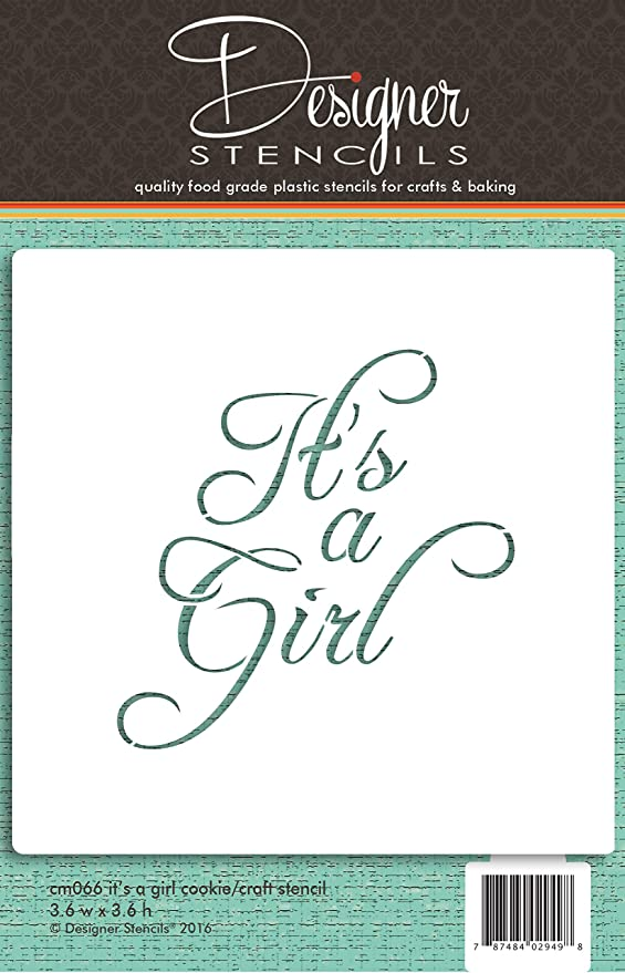 Its a Girl - Its a Boy - Baby Shower - Bundle of Joy - Youre Special - Welcome Baby Designer Stencils C824 Baby Lettering Cookie Stencil Set, Beige//semi-transparent