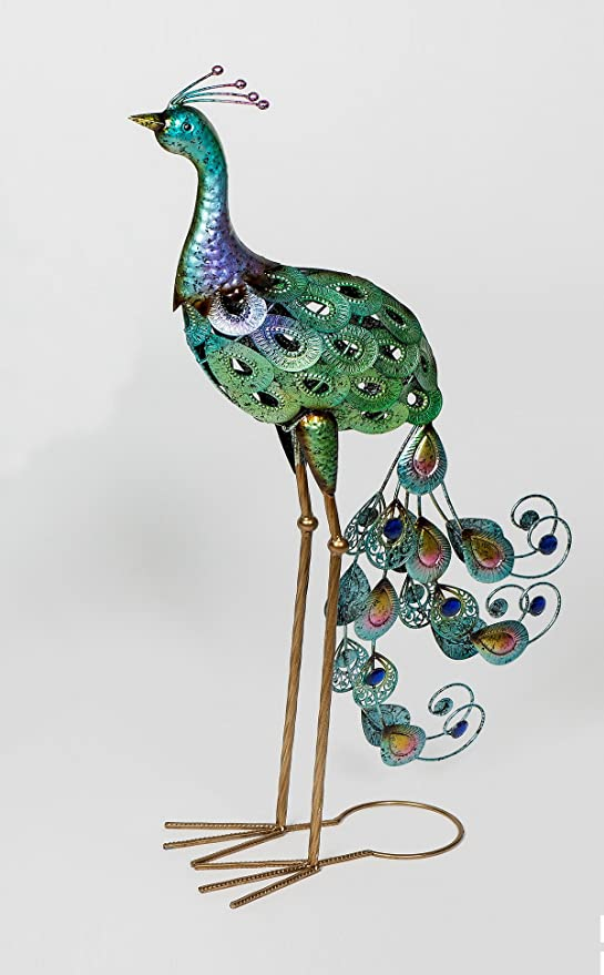 Metallskulptur Gartenfigur Pfau Garten Gartendeko Skulptur Figur handarbeit
