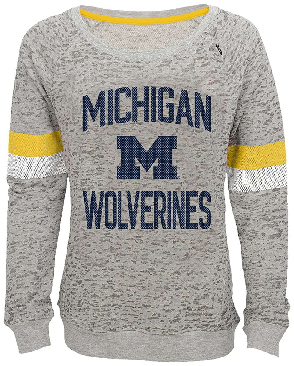 Outerstuff NCAA Michigan Wolverines Youth Girls Field Armor Dolman Sleeve Top Youth Girls Small 7-8 Heather Grey
