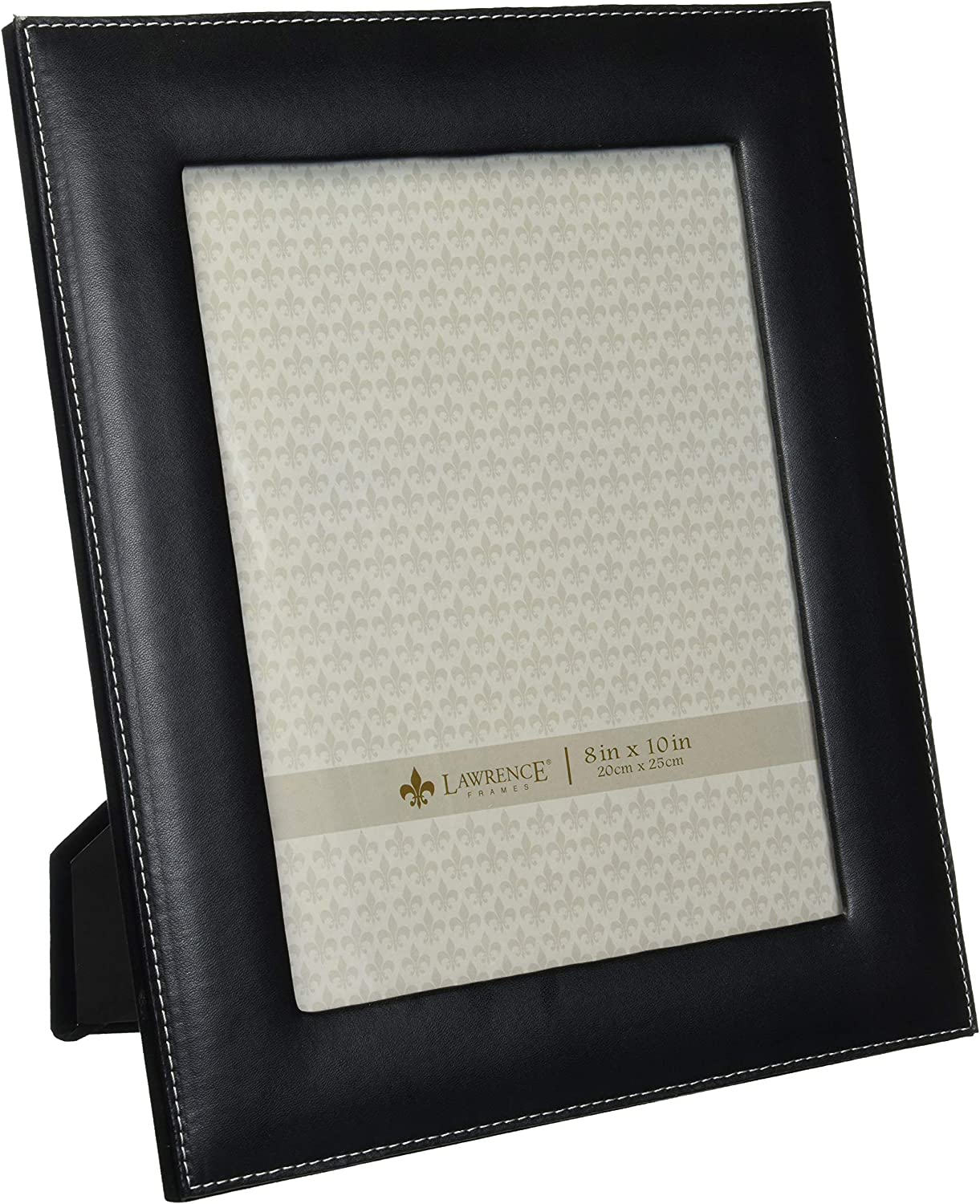 Lawrence Frames Black Leather 8 By 10 Picture Frame Amazon Co Uk Kitchen Home