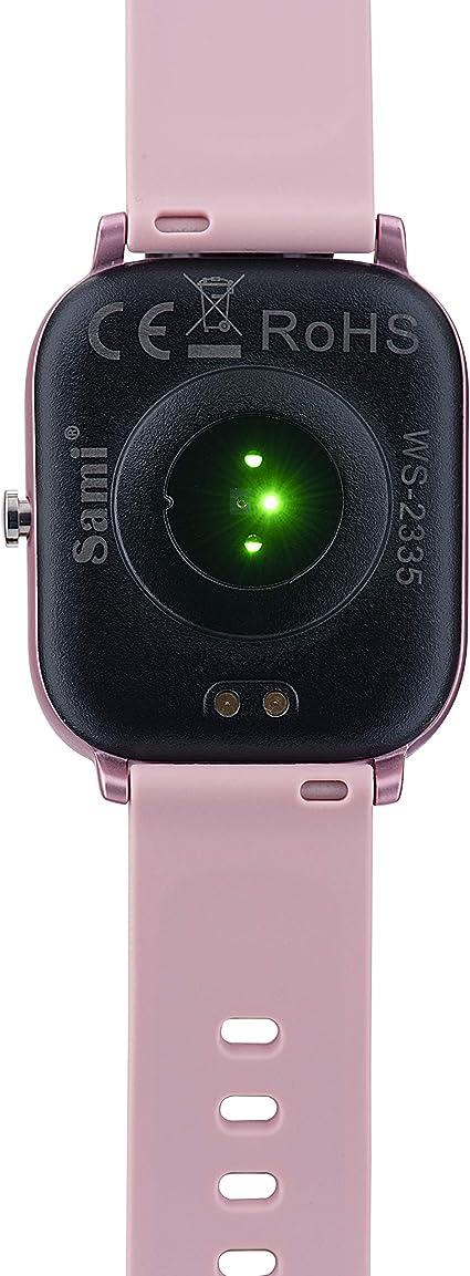 Sami - Evolution - Smartwatch, Smartband, Pulsera de Actividad Deportiva. Color Rosa Palo. para Android y iOS Función: Cámara, GPS, presión sanguínea, Fuerza G, Multideportivo.: Amazon.es: Electrónica