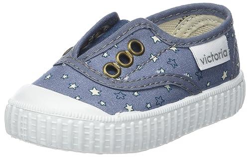 Victoria Ingles Elástico Estrellas, Zapatillas Unisex bebé, Azul (Jeans), 19 EU: Amazon.es: Zapatos y complementos