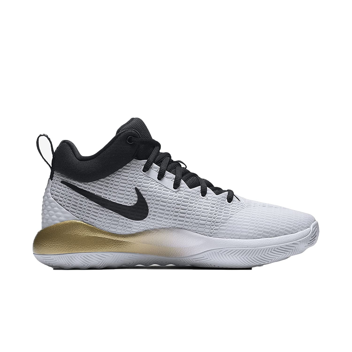 341e05c4d800 Nike Men s Zoom Rev Basketball Shoe White Black Metallic Gold Pure Platinum  Size 10 M US  Buy Online at Low Prices in India - Amazon.in