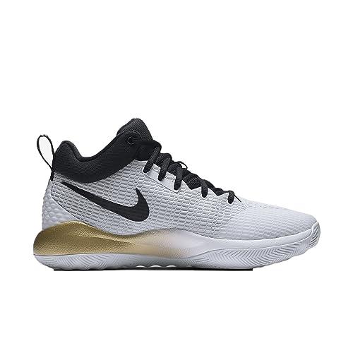Zapatillas de baloncesto Nike Zoom Rev para hombre Blanco / Negro / Oro metalizado / Pure