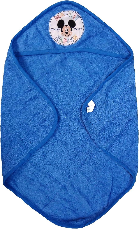 azzurro mickey accappatoio triangolo in spugna 100/% cotone neonato TOPOLINO disney art 1822-116