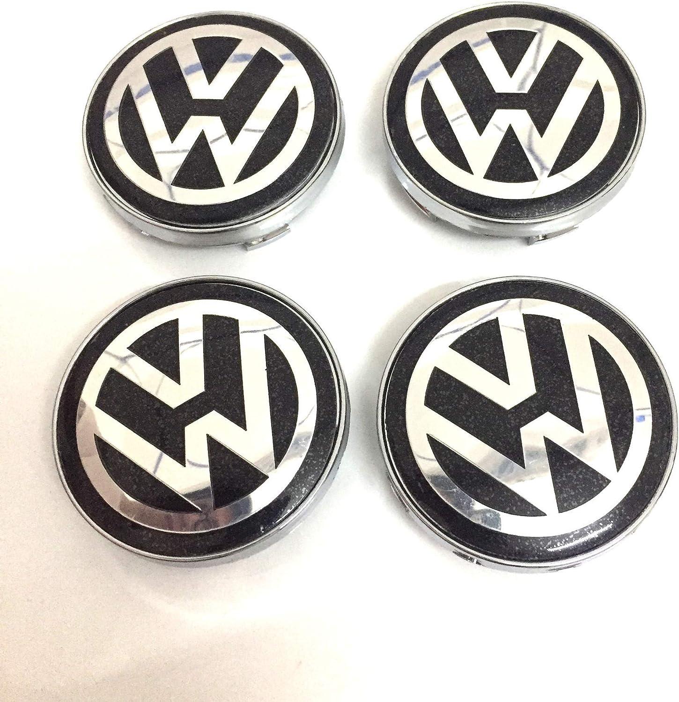 Color : Black WYJBD 4Ps Geeignet zum Nachr/üsten Vo-lk-sw-ag-en Radkappe 60mm Radmitte Marke VW Staubabdeckung Auto Etikett blau Label Black Label schwarz