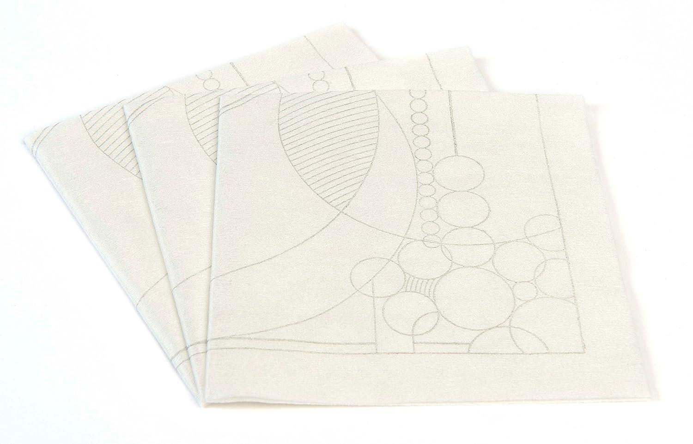 Frank Lloyd Wright 3月バルーンPure竹単一使用カクテルナプキン – 25 x 25 cm生分解性ナプキン – Feels Like布(天然/ウォームグレー)   B078PS8XLV
