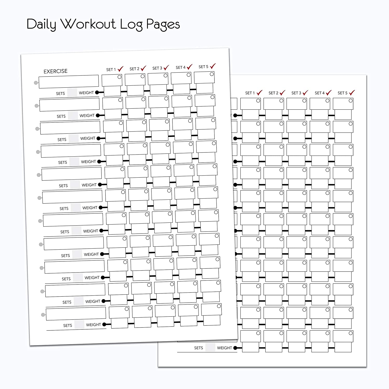 A5 STANDARD WEIGHT TRAINING FITNESS LOG BOOK GYM CROSSFIT DIARY WORKOUT JOURNAL