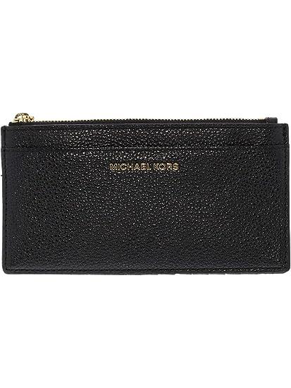 new arrivals d2348 28b03 MICHAEL by Michael Kors Money Pieces Black Leather Slim Card Case ...