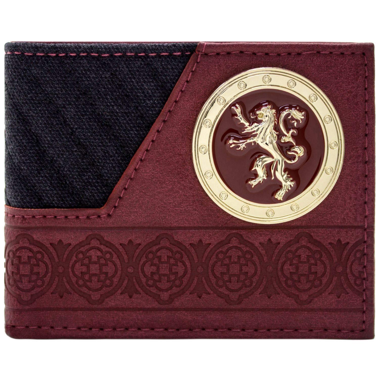 Game of Thrones Haus Lannister Goldener L/öwe Schwarz Portemonnaie Geldb/örse