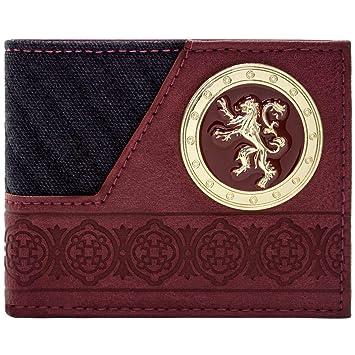 Cartera de Game of Thrones Casa Lannister Leon de Oro Negro: Amazon.es: Equipaje