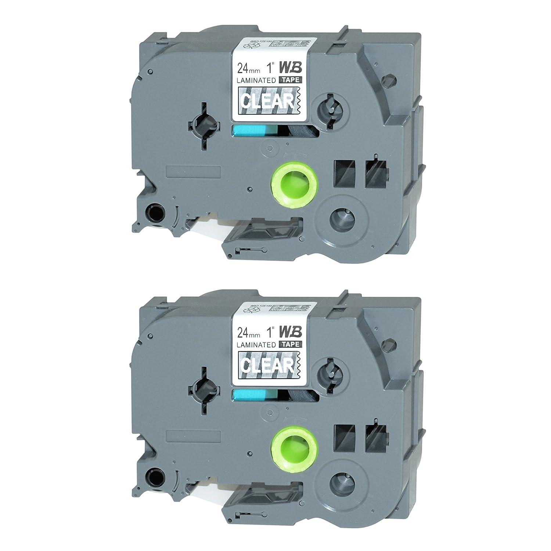 7600 VP 9200 DX 9500 PC wie TZ-755 vhbw Kassette Patronen Schriftband 24mm f/ür Brother P-Touch 2730 VP 9200 PC 7500 VP TZE-755.
