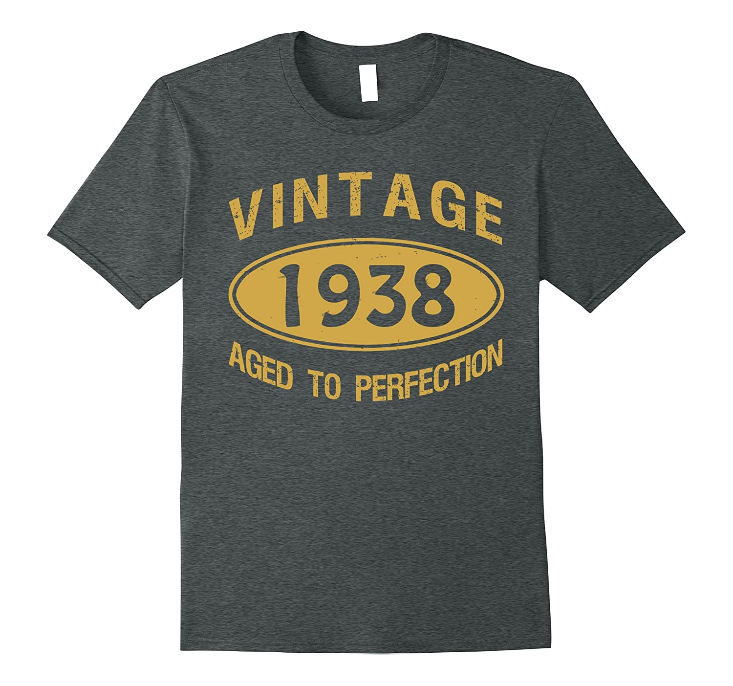 79th Birthday Gift Vintage 1938 Aged To Perfection T-Shirt-Vaci
