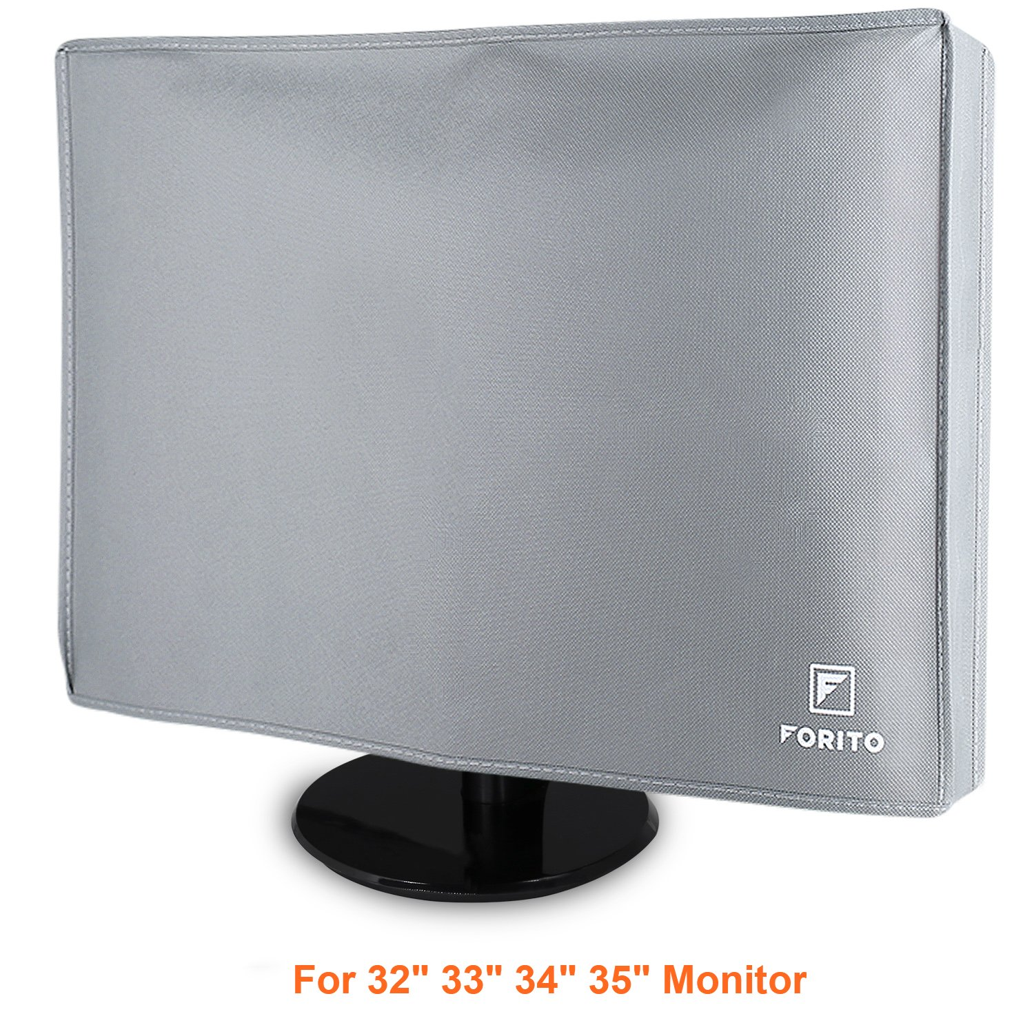 "19"" 19.5 20 21.5 22 Computer Monitor Dust Cover, FORITO Nonwoven Fabric Dust-Proof and Mold-Proof Monitor Dust Cover for 19 Inch to 22 Inch LCD/LED HD Screen Panel -Gray FM-MDC20-GY"