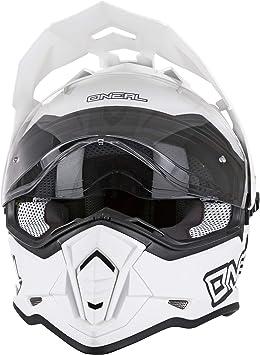 O Neal Motorrad Helm Enduro Adventure Street Ventilationsöffnungen Für Maximalen Luftstrom Und Kühlung Abs Schale Integrierte Sonnenblende Sierra Helmet Flat Erwachsene Weiß Größe Xs Auto