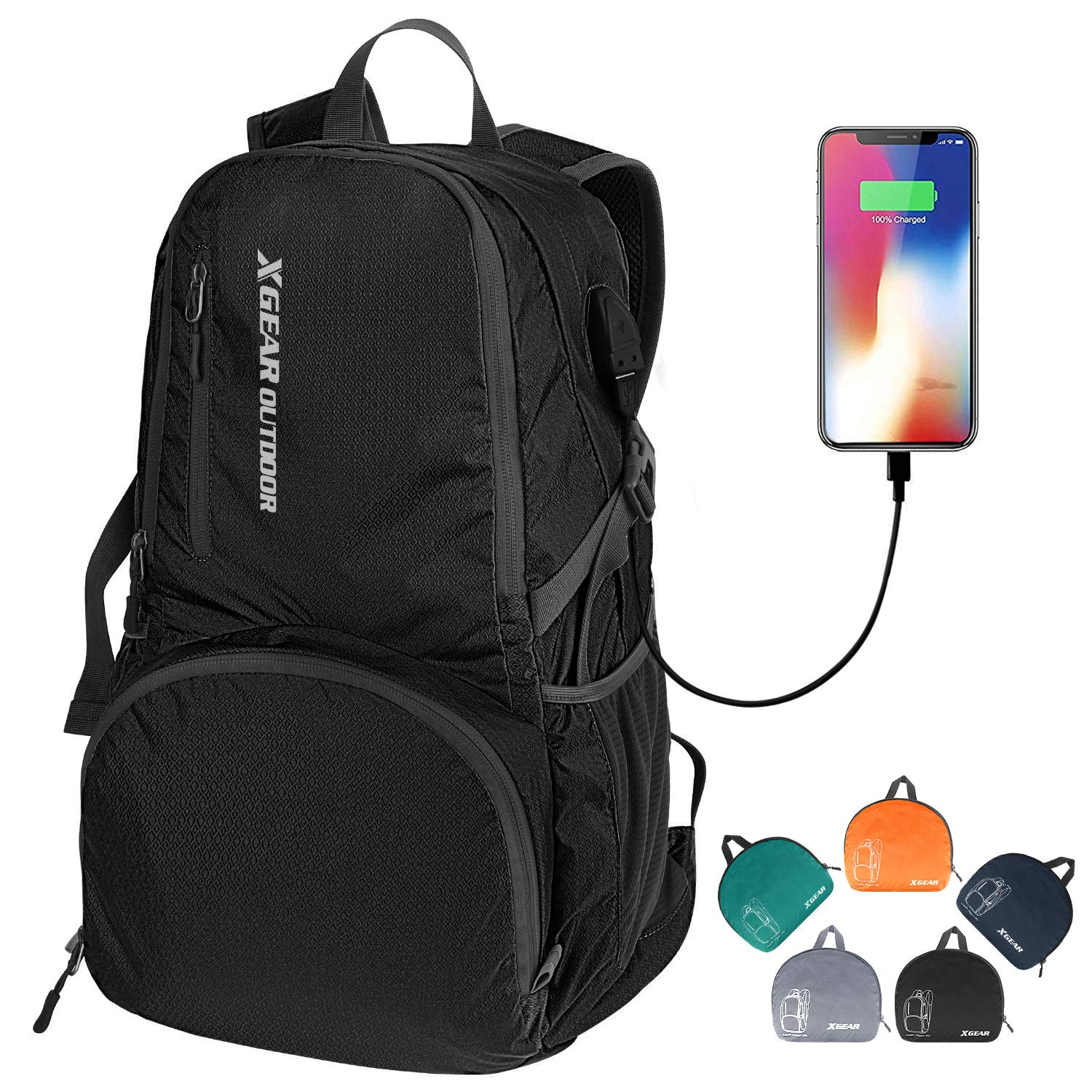 XGear 35L Ultralight Foldable Backpack Travel Packable Hiking Daypack