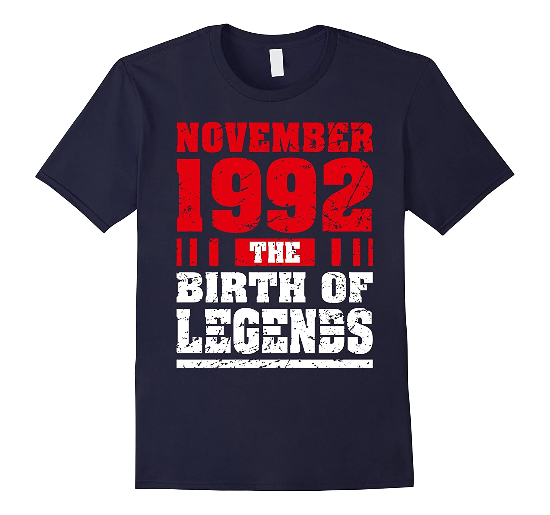 25 Years Old 25th Birthday Gift Born 1992 November T-Shirts-Rose