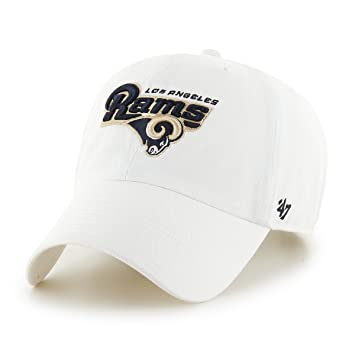 47 NFL los angeles rams limpiar ajustable Gorra, blanco, talla única, color