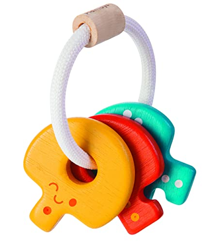 Amazon Com Plantoys Baby Key Rattle Plan Toys Toys Games