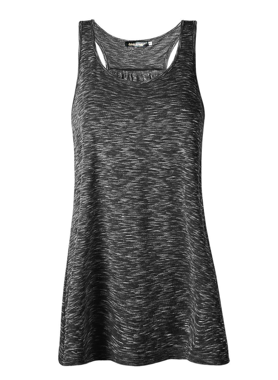 JL&LJ Women Tank Tops Soft Cotton Racerback Workout Loose Fit Plus Size Vest for Yoga Jogging Running (Black, XL)