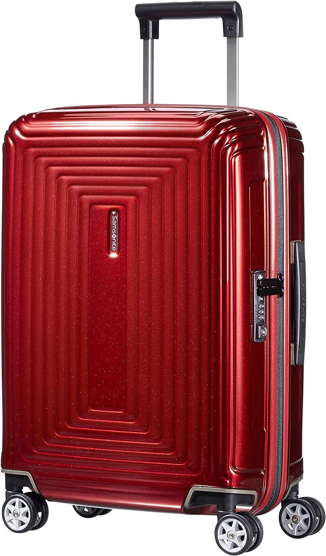 Samsonite Neopulse - Spinner S (Ancho: 20 cm) Equipaje de Mano, 55 cm, 38 L, Rojo (Metallic Red)