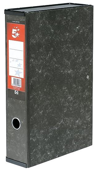 5 Star - Caja archivador con compresor de papeles y asa exterior (75 mm, tamaño folio): Amazon.es: Oficina y papelería