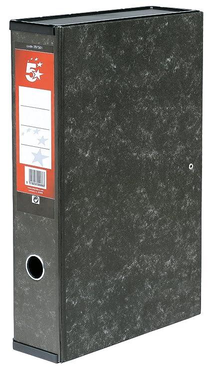 5 Star - Caja archivador con compresor de papeles y asa exterior (75 mm,