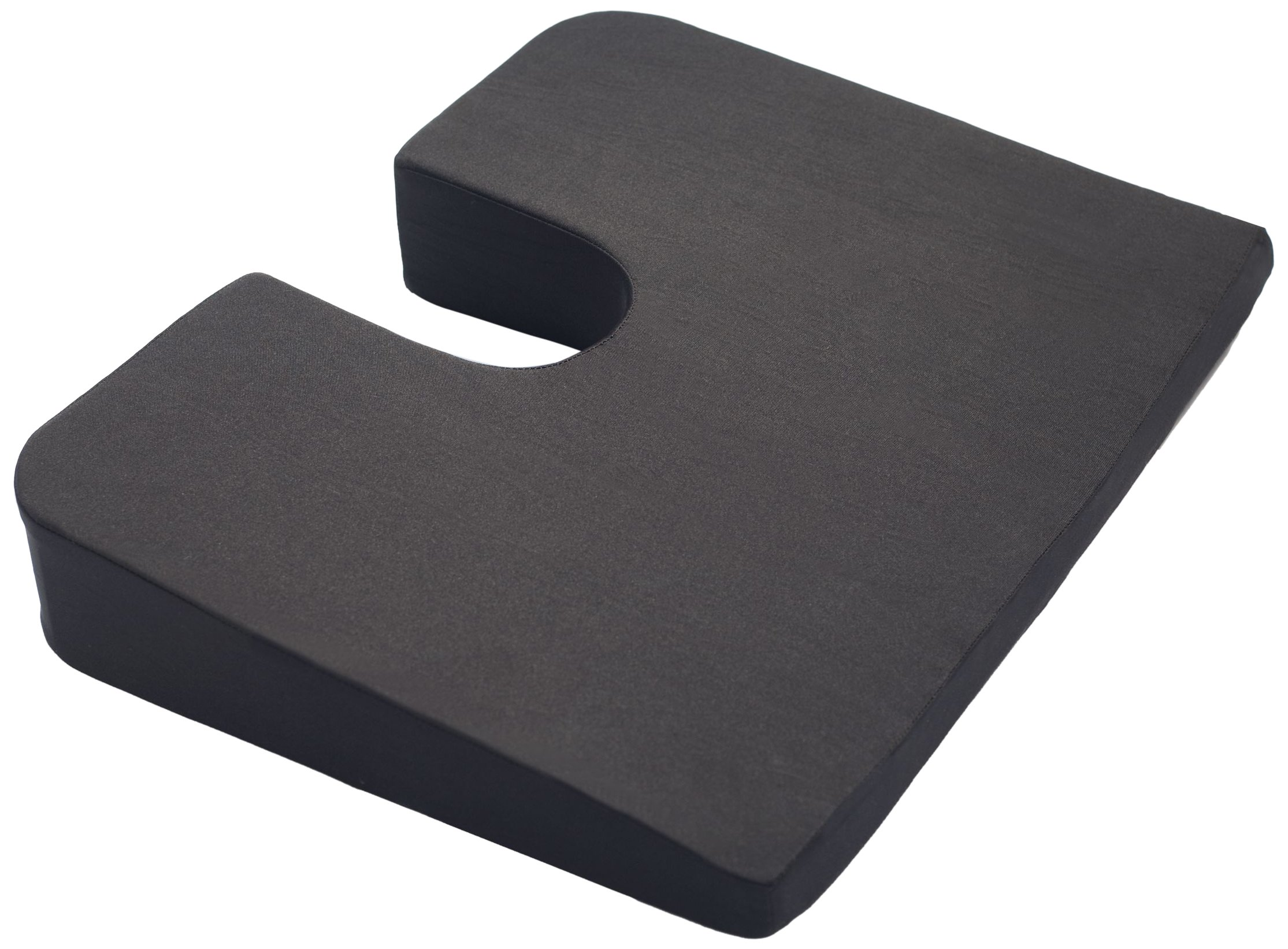 Kölbs Cushions Premium Orthopedic Coccyx Foam Cushion, Black