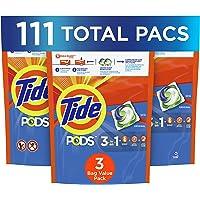 Tide PODS Liquid Laundry Detergent Pacs, Original, 37 Count, 3 Pack