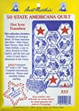 Aunt Martha's 50 State Americana Iron On Transfer Pattern Collection, with State Outlines, State Birds and State Flowers