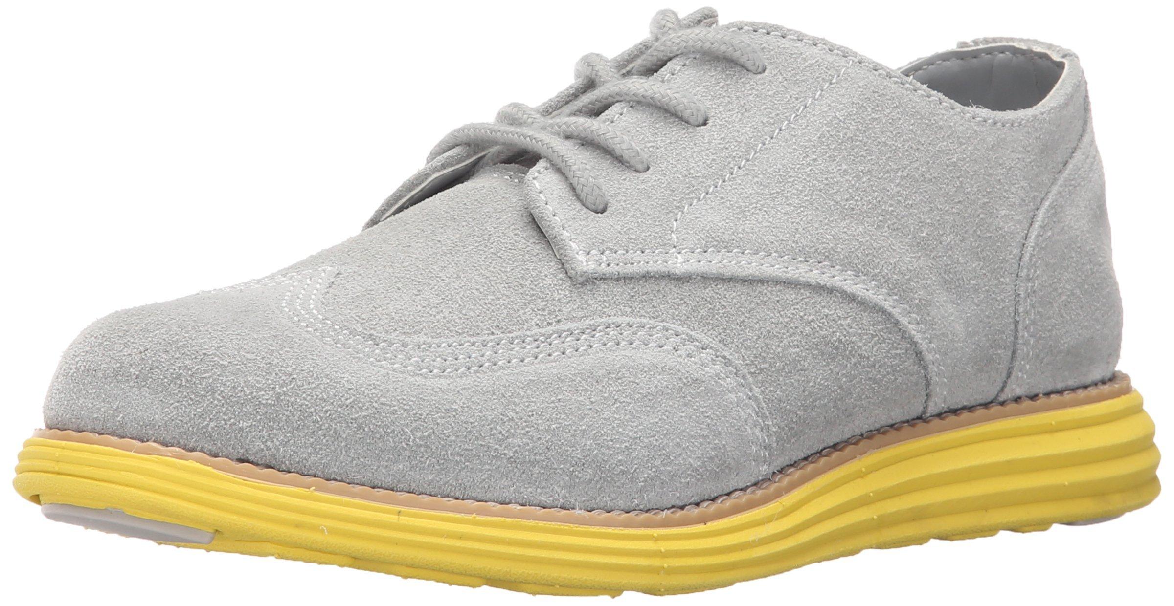 Cole Haan Boys' Grand Oxford 220003-K Sneaker Grey/Volt Yellow 13 M US Little Kid