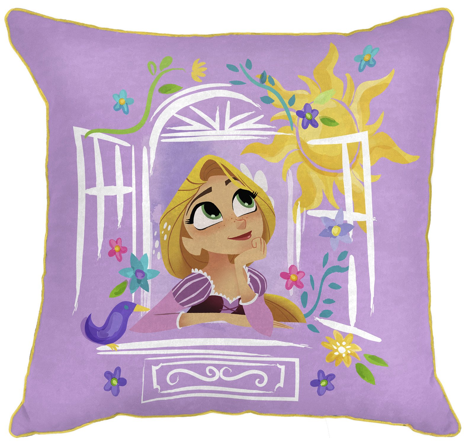 Disney Tangled There Is More 14'' x 14'' Decorative Toss Throw Pillow, Purple/Gold