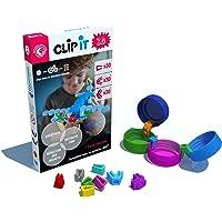 CLIP IT 3D - Jeu d'assemblage créatif, éducatif et Durable, 90% surcyclé ! Boite Mixte de 90 Clips.