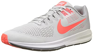 size 40 e2c84 9cb18 Nike Men s Air Zoom Structure 21 Running Shoes, Black (Vast Bright  Crimson Atmosphere