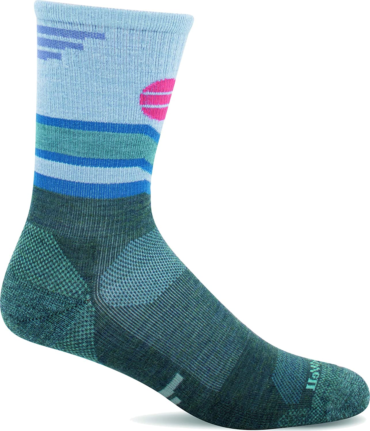 Sockwell Womens Mountain Beat Crew Moderate Compression Sock