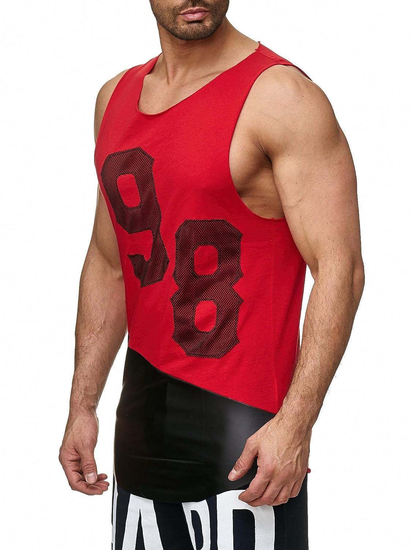 Red Bridge Herren Muskelshirt Oversize Leder Casual Tank Top Gym Shirt