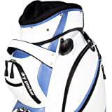 Motor Power and Caddy Cart Bag / Dry Pocket - White/Blue Pro Series