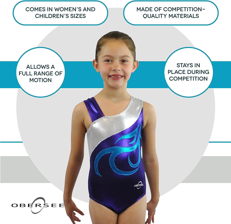 Obersee Girls Gymnastics Leotard Turquoise Waves