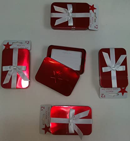 82bd9549db0 Amazon.com   Macy s Gift Card Tins Red Set of 6   Gift Card Holders    Office Products