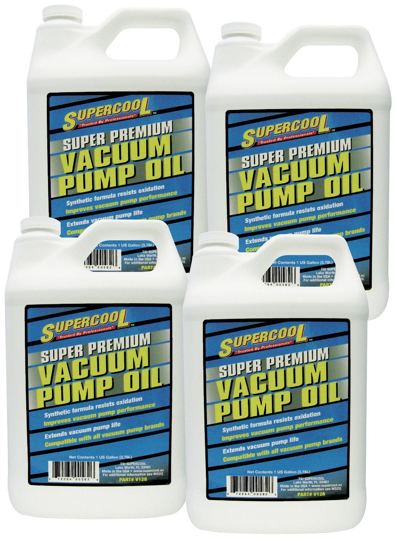 TSI Supercool V128-4CP Super Premium Synthetic Vacuum Pump Oil - 1 Gallon, 4 Pack
