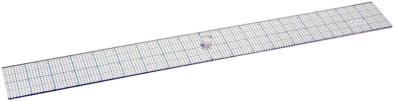 Ottimo per il layout il quilting Utilizzare con taglierine rotanti e coltelli da rasoio il cucito Realizzato in acrilico spesso 0,318 mm Design Righello 5,1 x 45,7 cm con manopola Easy Grip