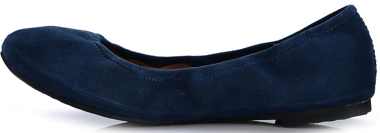 Eureka USA Women's Audrey Leather Ballet Flat B07C14HP7X 10 B(M) US|716 Jean Blue