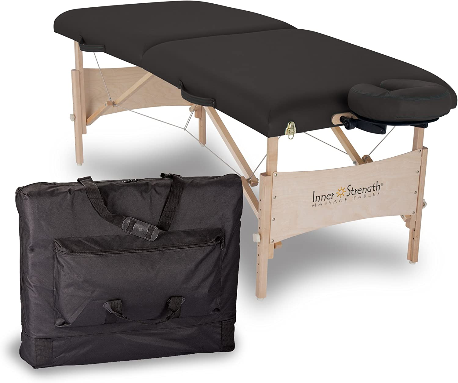 INNER STRENGTH Portable Massage Table Package ELEMENT Incl. Deluxe Adjustable Face Cradle, Face Pillow Carrying Case