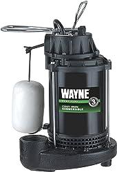WAYNE CDU790 1/3 HP Submersible Cast Iron and Steel Sump Pump