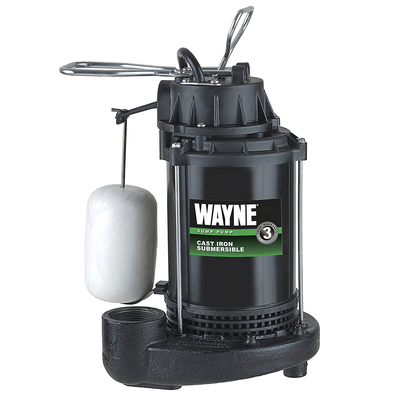 WAYNE CDU790 1/3 HP Submersible Cast Iron and Steel Sump Pump With  Integrated Vertical Float Switch - - Amazon.com