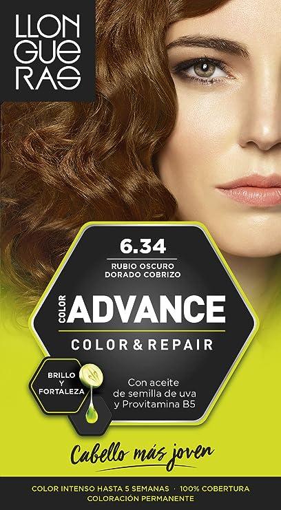 LLONGUERAS Advance tinte Rubio Oscuro Dorado Nº 6.34 caja 1 ud