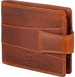 fbddfa339293e MATADOR RFID Schutz Geldbörse Geldbeutel ECHT Leder Herren-Börse  Portemonnaie Weiches Rindsleder Braun Geschenk-