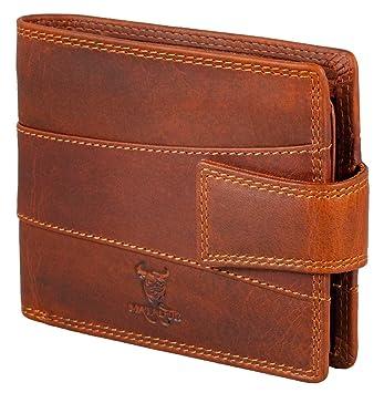 276d6b9e57c05 MATADOR RFID Schutz Geldbörse Geldbeutel ECHT Leder Herren-Börse  Portemonnaie Weiches Rindsleder Braun Geschenk-
